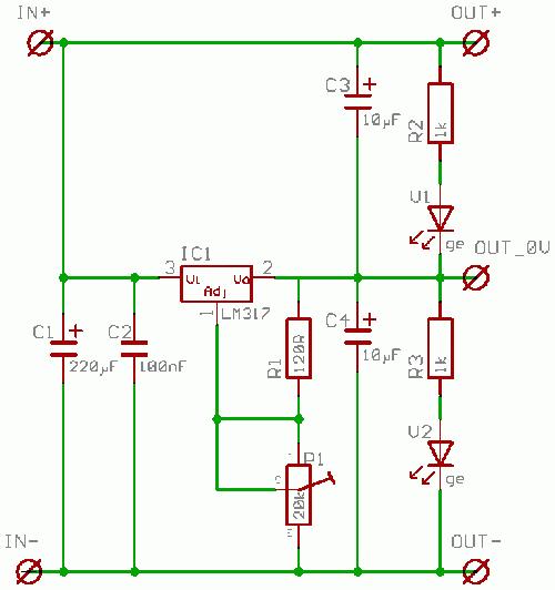 lm317 schaltung berechnen lm317 mit transistor steuern. Black Bedroom Furniture Sets. Home Design Ideas